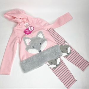 NWT Nannette Girl 2pc Fox Outfit Size 5